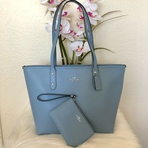 🌸 COACH City Zip Tote Set